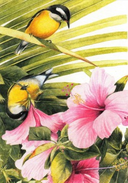 Classical Flowers Painting - am167D animal bird classical flowers