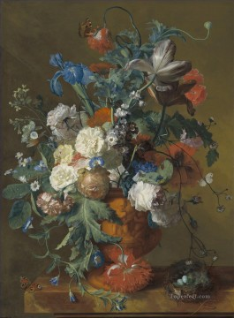 Flowers in an Urn Jan van Huysum classical flowers Oil Paintings