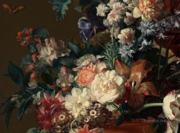 Vase of Flowers Jan van Huysum classical flowers Oil Paintings