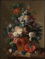 Vase with nude of Flowers Jan van Huysum classical flowers