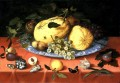 Bosschaert Ambrosius Fruit still life with shells