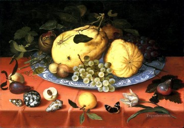 Flowers Painting - Bosschaert Ambrosius Fruit still life with shells
