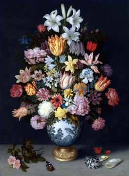 Classical Flowers Painting - Bosschaert Ambrosius Still Life Vase and Flower