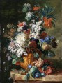 Bouquet of Flowers in an Urn2 Jan van Huysum classical flowers