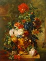 Flowers with statues Jan van Huysum classical flowers