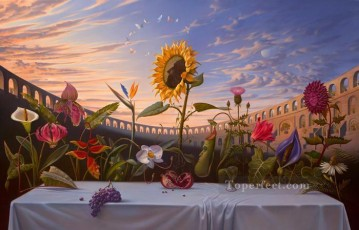 last supper Painting - Last Supper of flowers