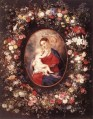 The Virgin and Child in a Garland of Flower Baroque Peter Paul Rubens