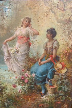 Classical Flowers Painting - claudio boltiansky spring time Hans Zatzka classical flowers