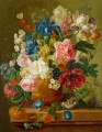 paulus theodorus van brussel flowers in a vase Flowering