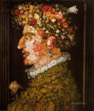 Spring 2 Giuseppe Arcimboldo classical flowers Oil Paintings