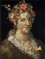 floral woman Giuseppe Arcimboldo classical flowers