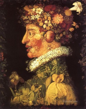 Printemps Giuseppe Arcimboldo classical flowers Oil Paintings