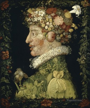 Spring 1573 Giuseppe Arcimboldo classical flowers Oil Paintings