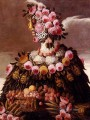 woman of flowers Giuseppe Arcimboldo