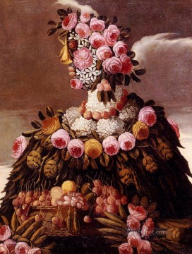 woman of flowers Giuseppe Arcimboldo Oil Paintings
