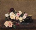 A Basket of Roses flower painter Henri Fantin Latour