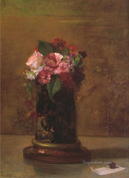 Flowers in JapaneseVase painter John LaFarge Oil Paintings