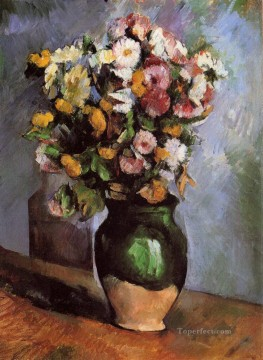 Flowers in an Olive Jar Paul Cezanne Oil Paintings
