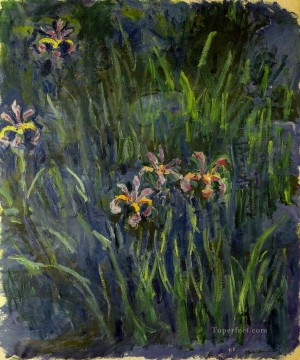 Irises II Claude Monet Impressionism Flowers Oil Paintings
