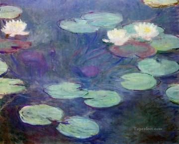 Pink Water Lilies Claude Monet Impressionism Flowers Oil Paintings