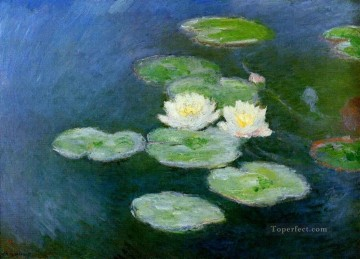 Water Lilies Evening Effect Claude Monet Impressionism Flowers Oil Paintings
