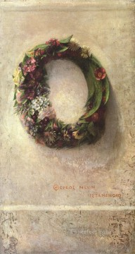 Impressionism Flowers Painting - Wreath of Flowers painter John LaFarge