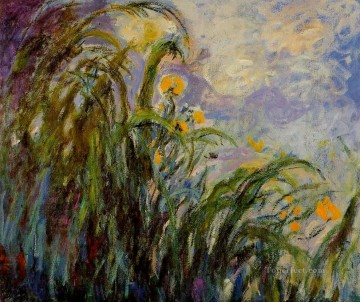 Yellow Irises Claude Monet Impressionism Flowers Oil Paintings