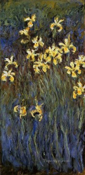 Flowers Painting - Yellow Irises II Claude Monet Impressionism Flowers