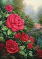 A Perfect Red Rose Thomas Kinkade Impressionism Flowers