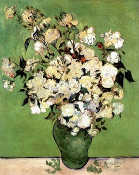 A Vase of Roses Vincent van Gogh Impressionism Flowers Oil Paintings
