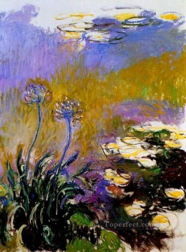 gap Painting - Agapanathus Claude Monet Impressionism Flowers
