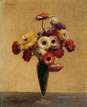 Anemones and Buttercups flower painter Henri Fantin Latour Oil Paintings
