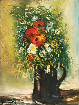 BOUQUET CHAMPETRE Maurice de Vlaminck flowers impressionism Oil Paintings