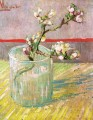 Blossoming Almond Branch in a Glass Vincent van Gogh Impressionism Flowers