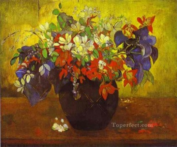 Bouquet of Flowers Post Impressionism Primitivism Paul Gauguin Oil Paintings