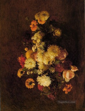 Bouquet of Flowers3 Henri Fantin Latour Oil Paintings