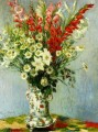 Bouquet of Gadiolas Lilies and Dasies Claude Monet Impressionism Flowers