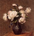 Bouquet of Peonies flower painter Henri Fantin Latour