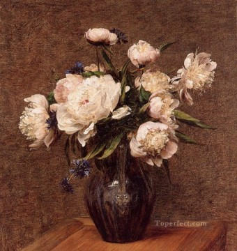 Bouquet of Peonies flower painter Henri Fantin Latour Oil Paintings