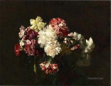 carnations deco art - Carnations flower painter Henri Fantin Latour