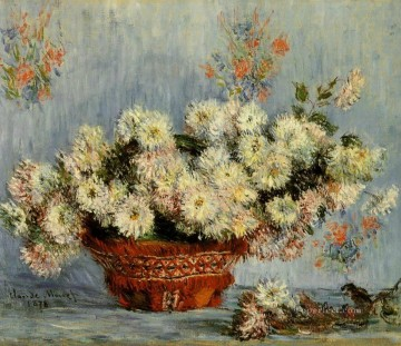 Chrysanthemums IV Claude Monet Impressionism Flowers Oil Paintings