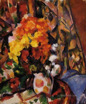 Chrysanthemums Paul Cezanne Impressionism Flowers Oil Paintings