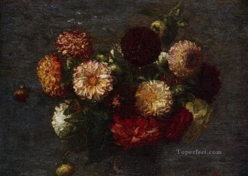 Chrysanthemums2 flower painter Henri Fantin Latour Oil Paintings