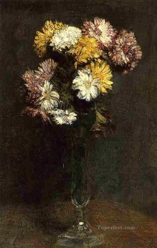Chrysanthemums3 flower painter Henri Fantin Latour Oil Paintings