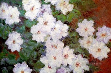Clamatis Claude Monet Impressionism Flowers Oil Paintings