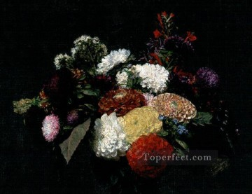 Dahlias 1873 flower painter Henri Fantin Latour Oil Paintings