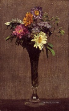 Daisies and Dahlias flower painter Henri Fantin Latour Oil Paintings