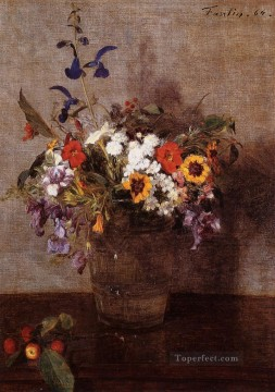 Diverse Flowers Henri Fantin Latour Oil Paintings