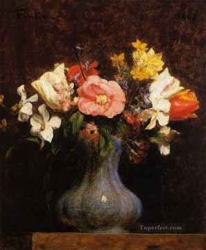 Camelias Works - Flowers Camelias and Tulips flower painter Henri Fantin Latour