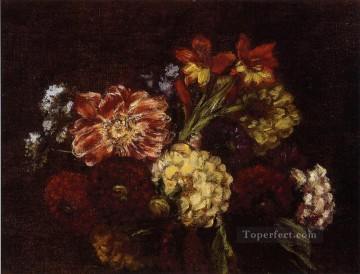Flowers Dahlias and Gladiolas flower painter Henri Fantin Latour Oil Paintings